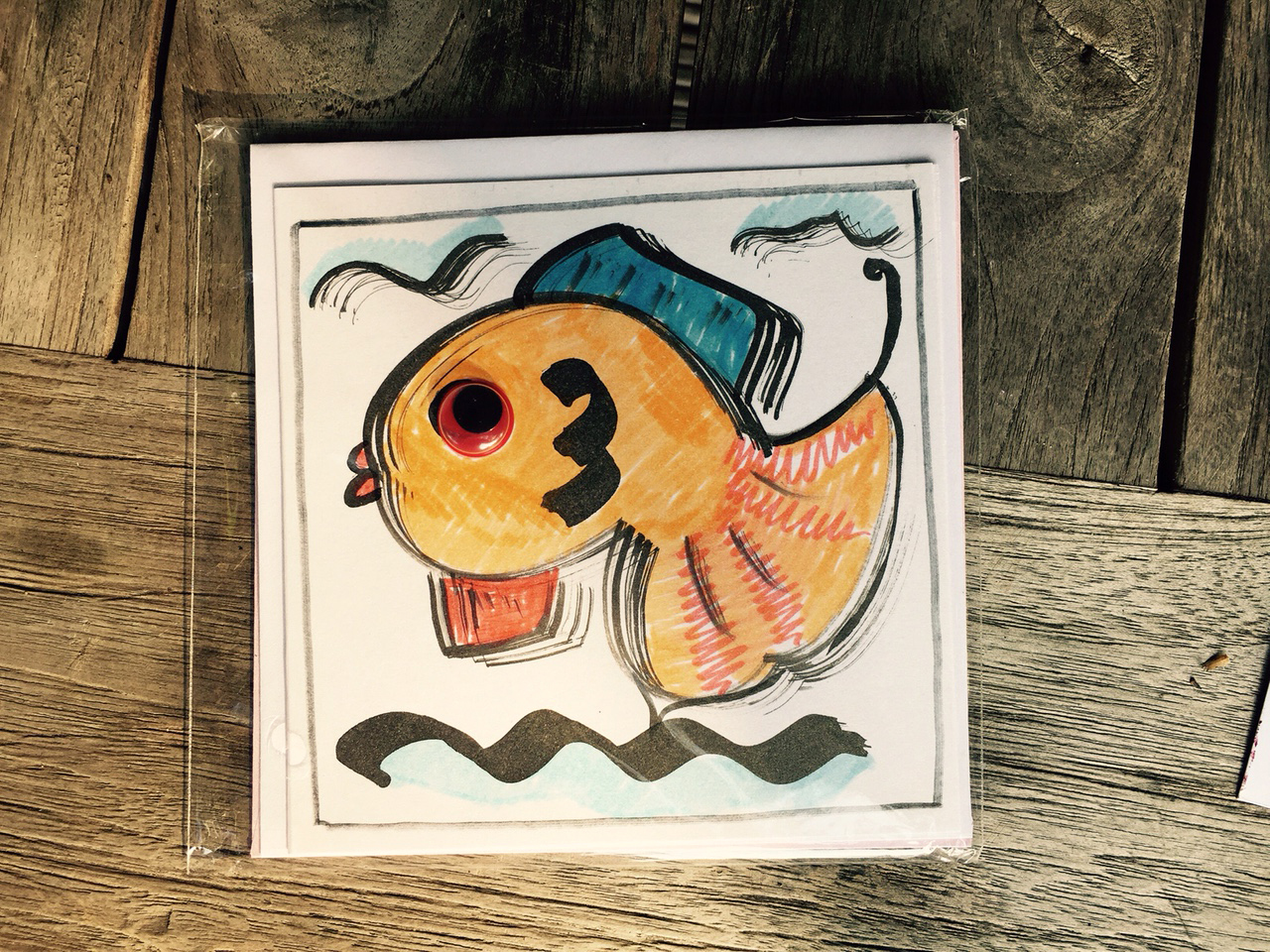 Vis met wiebelogen